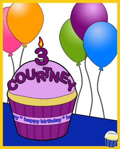 Courtney Grace's 3rd Birthday Cupcake