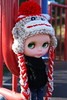 clo (cybermelli) Tags: original black hat vintage monkey sweater sock funny doll bald sneakers jeans converse mohair denim sockmonkey kenner blythe hairless 1972 mungo
