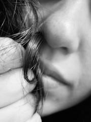 I'm..Curly!! (FedericaPC) Tags: portrait bw selfportrait face canon hair blackwhite bn curly ricci autoritratto federica ritratto bianconero viso biancoenero visage hairs naso capelli riccio federicapc