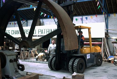 Remontage de la machine à vapeur Dujardin