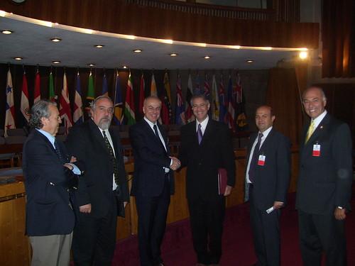 Edoardo Croci a Santiago del Cile: incontro con i vertici dell'Agenzia delle Nazioni Unite per lo sviluppo dell'America latina - 19 marzo 2008