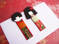 Chiyogami doll magnetic bookmark - Nakamura (umeorigami) Tags: japan paper asian japanese paperdoll bookmark papercraft washi chiyogami origamidoll chiyogamidoll
