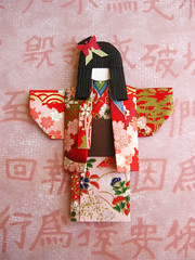 Chiyogami paper doll - Kaori (umeorigami) Tags: japan paper asian japanese paperdoll papercraft washi chiyogami origamidoll chiyogamidoll