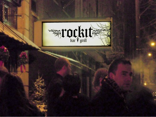 Waiting Outside Rockit Bar & Grill
