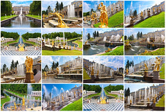 Peterhof in Saint Petersburg (Bakh2013) Tags: park travel summer sculpture building art history tourism water fountain st statue set architecture gold waterfall place russia antique traditional famous culture style petersburg palace location collection destination classical flowing baroque cascade petrodvorets russianfederation zzzambaaapfagfhegfhcghgpggfdgfhedbfpdfdi