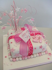 Pink parcel (CAKE Chester) Tags: birthday pink white cake stars 21 tag chester bow grasses ribbon parcel