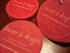lauren b. designs - labels, business cards & hang tags