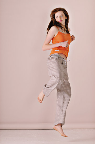 Fashion Photography, Sleepwear in The Studio, Jumping