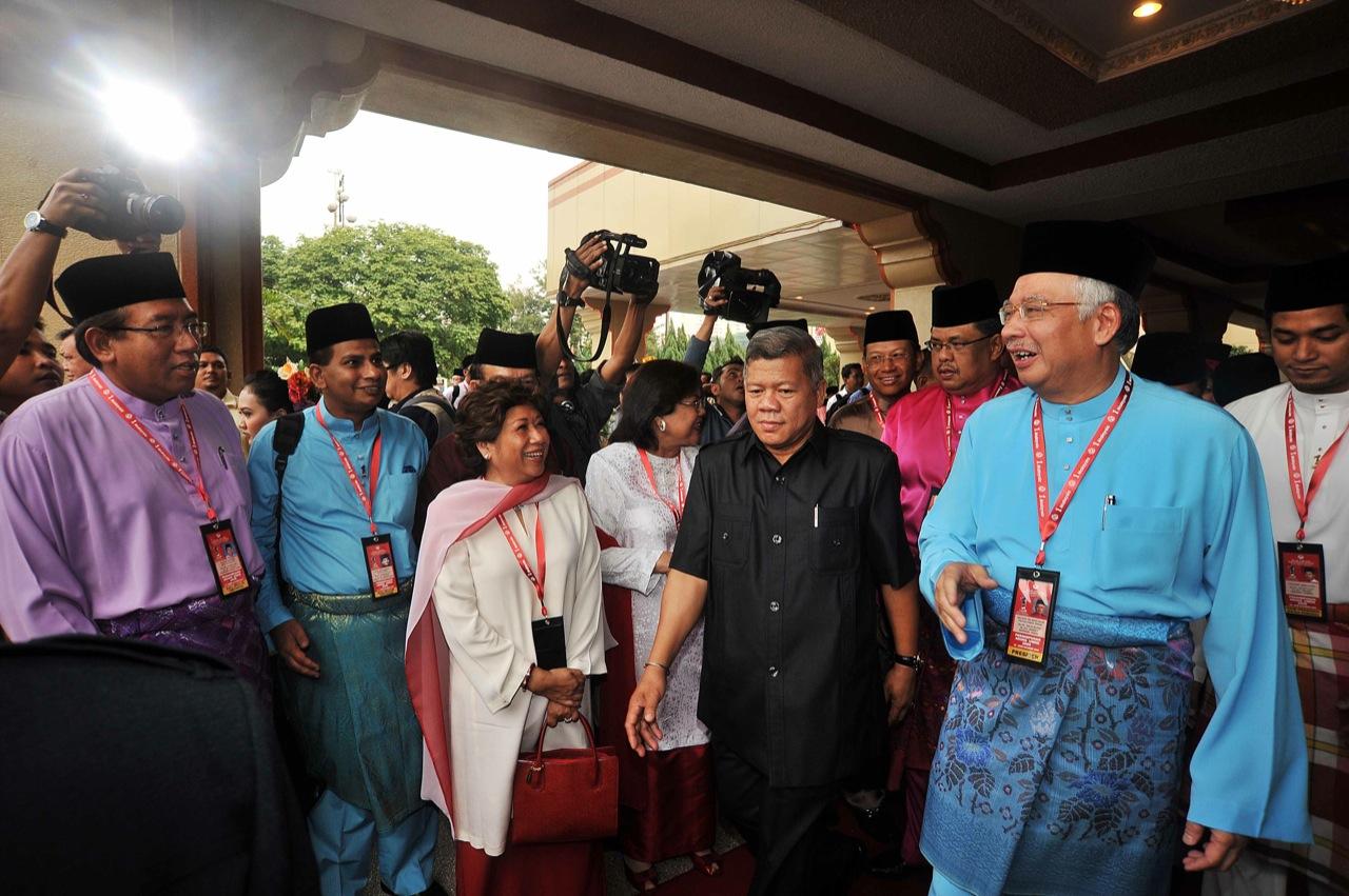Kuala Lumpur 14/10/2009 -- Presiden UMNO Datuk Seri Najib Abd Razak hadir pada upacara menaikkan bendera UMNO sebelum bersidang pada perhimpunan agung UMNO 2009 di PWTC.  Gambar oleh OSMAN ADNAN