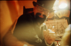 ( . ) Tags: halloween holga xpro crossprocessed lomolca kodake100vs davidbowie tgifridays kodakektachrome64t ziggystardust spidersfrommars noviarbat