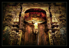Uprising. (Andy Bracey -) Tags: wood religious spain cross cathedral jesus seville hdr uprising blendedexposure spritual bracey andybracey