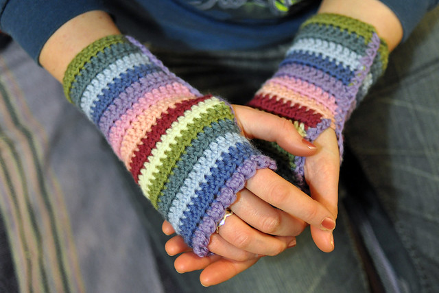 Ravelry Striped Wristlets Pattern By Lucy Of Attic24