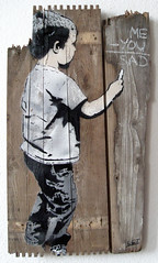 me-you=sad (l.e.t.) Tags: street boy streetart art love print graffiti design artwork stencil sticker screenprint artist gallery sad contemporary kunst galerie exhibition pop spray popart silkscreen artshow ausstellung