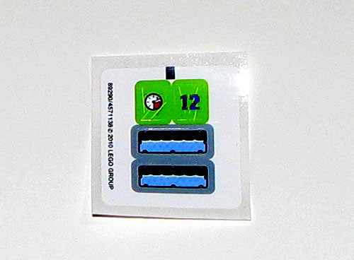 2010 LEGO 8188 Power Miners - Fire Blaster Decals