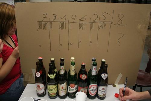 Die Bierverkostung!