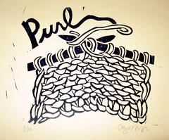 Purl Stitch Print