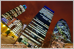 Blue London Night - Swiss Re Building, 30 St Mary Axe, (david gutierrez [ www.davidgutierrez.co.uk ]) Tags: city blue urban building london colors architecture night skyscraper buildings dark spectacular geotagged photography lights photo arquitectura cityscape darkness image dusk sony centre cities cityscapes center structure architectural business nighttime 350 londres architektur nights sensational metropolis alpha gherkin londra impressive 30stmaryaxe tower42 dt nightfall aviva municipality edifice swissrebuilding cites londonist thesquaremile f4556 1118mm sonyalphadt1118mmf4556 sony350dslra350