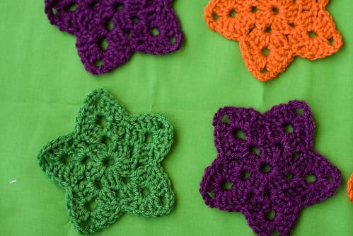 crochet granny stars!