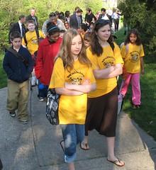 Missouri students walking to school