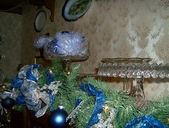 HPIM2713 (ohairas) Tags: christmas holiday floral vintage festive lights victorian nostalgia staircase greenery froufrou edwardian decorated housetour victorianhome wraparoundporch antiues restoredvictorian