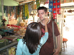 Tanaka paste (Patrice_Muc8) Tags: travel people woman shop asia asien skin buddha burma buddhism menschen exotic heat myanmar frau burmese birma burman mandalay tanaka mensch haut mingun exotisch hitze buddhismus zeder geschf zedernholz tanakapaste