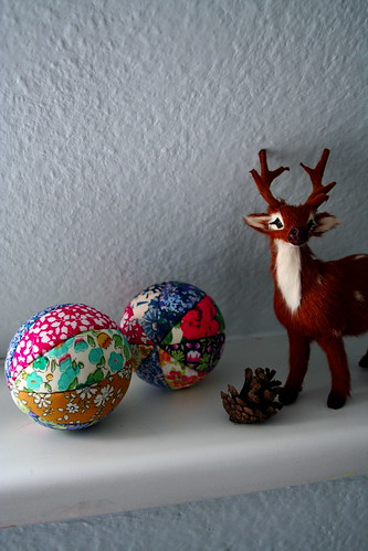 Liberty fabric balls/baubles