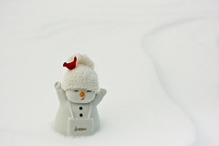 Dream (aplseed photography) Tags: winter white snow snowman backyard raw december cardinal dream bisque iowa explore ornament blizzard 2009 porcelain drifts carrotnose customwb canon60mm28 expocap puresnow