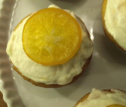 candied lemon cupcake