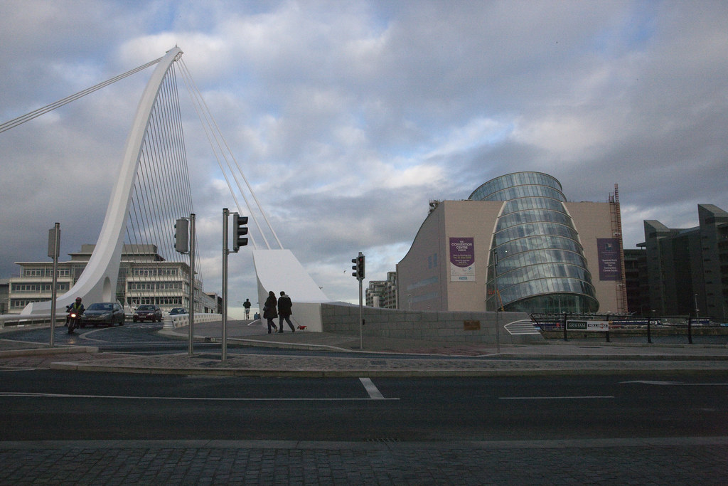 A View Of The Samuel Beckett bridge And The Convention Centre