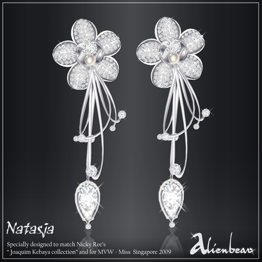 Natasja earrings white