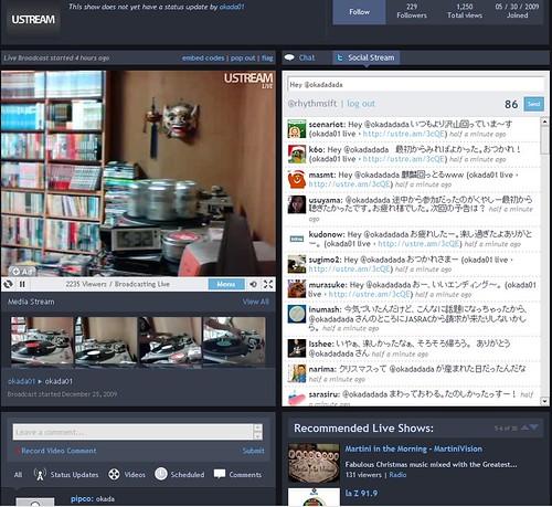DJing : @okadadada ends his play with 2100viewers on Ustream ?