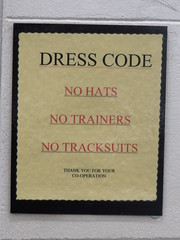 Dress Code sign - The Tap & Spile - Gas Street...