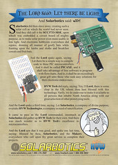 Solarbotics Make Ad - Summer 2007 (Solarbotics) Tags: make goofy magazine solar funny god ad cell lord advertisement axe bible parody pick blasphemy genesis mag makemagazine picaxe solarbotics hvwtech