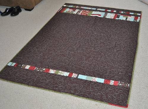 quilt back--figgy pudding Christmas quilt