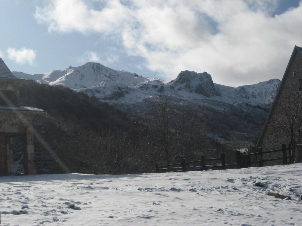 vista de fuentes de invierno