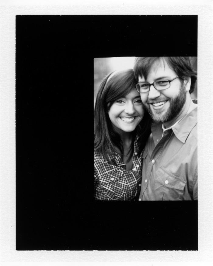 Image of Matthew and Kelly:  Engagement Polaroid