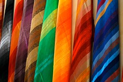 Colours from Above (Alex E. Proimos) Tags: color art work canon amazing fantastic rainbow colours bright market morocco 5d effect magnificent moroccan masterpiece scarfs mywinners flickraward excapture proimos theoriginalgoldseal alexproimos