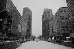 potsdamer (thegiox79) Tags: bw snow berlin potsdamer architektur bauwerk architettura perspektive prospettiva