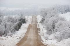 Country Road (jmurphpix) Tags: road winter snow ice weather scenery hoarfrost scenic gravel joemurphy josephlmurphy jmurphpix
