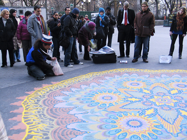 Sand art, Union Square
