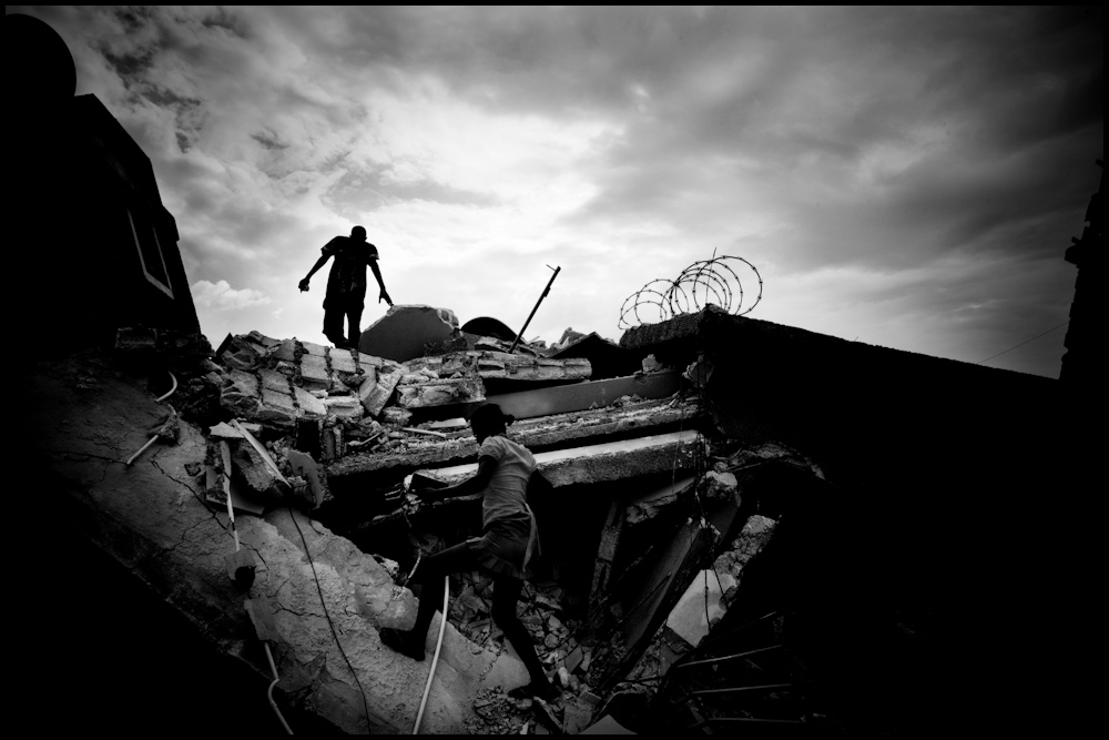 Searching in the rubble