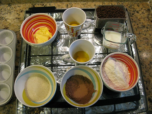 Cupcakes - os ingredientes