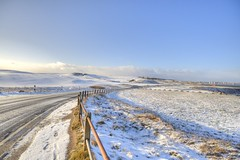 Round The Bend (Derek666) Tags: uk sunset sea sun white snow ice water sunshine photoshop scotland nikon aberdeen mad whiteout hdr cs4 nigg niggbay d5000