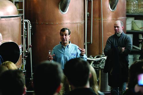 Jim Koch Giving a Tour