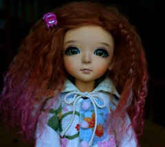 Tamsyn (meike) Tags: green outfit coco wig mohair tanned tamsyn grownup latidoll tinybear lati sleepingelf foxybrowny