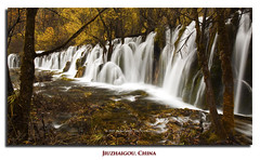 Arrow Bamboo Falls II (Dylan Toh) Tags: china park autumn mountain nature water leaves river stream nine reserve national valley range jiuzhaigou rize everlook