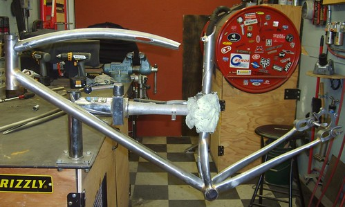 bike frame in progress