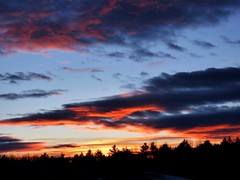 Contrasting Sky Colors (Krittergirl) Tags: clouds skies sunsets wintersunsets mainesunsets