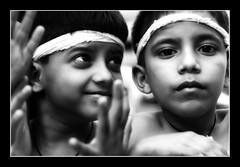 Boys (Abhisek Sarda) Tags: portrait india boys smile children dancers mumbai performers kalaghoda marathi thepca