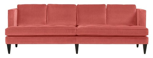 Pink Double Cushion Hutton Sofa - Room and Board